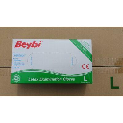 Kesztyű latex púderes L Beybi 100db