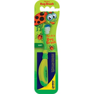 Piksters fogkefe Bug Brush (2-5 éves) fogínyvédő gumis bevonattal