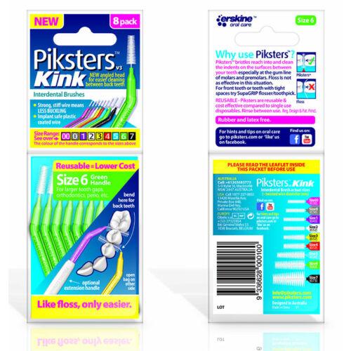 Piksters Kink no.6 green (0,60/1,40mm) 8db